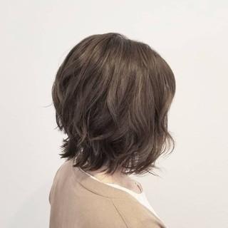 透明感 秋 ミディアム エフォートレス ヘアスタイルや髪型の写真・画像