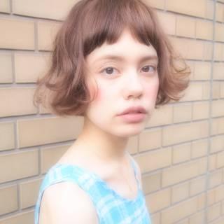ショート ゆるふわ 外国人風 くせ毛風 ヘアスタイルや髪型の写真・画像