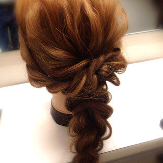 ゆるふわ ヘアアレンジ ショート ハーフアップ ヘアスタイルや髪型の写真・画像
