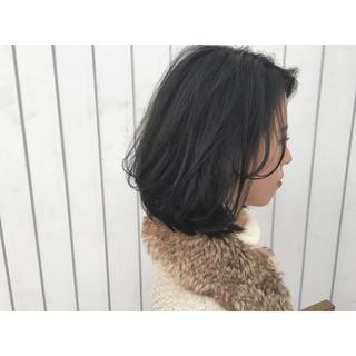 簡単ヘアアレンジ アッシュ ボブ ストリート ヘアスタイルや髪型の写真・画像