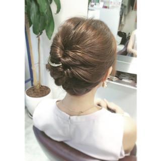 アップスタイル ロング ヘアアレンジ フェミニン ヘアスタイルや髪型の写真・画像 ヘアスタイルや髪型の写真・画像
