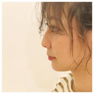 ガーリー アンニュイほつれヘア ヘアアレンジ デート ヘアスタイルや髪型の写真・画像