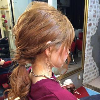 ハーフアップ 簡単ヘアアレンジ フェミニン ゆるふわ ヘアスタイルや髪型の写真・画像