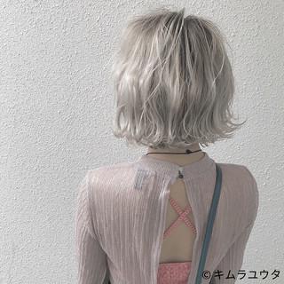 外国人風 ハイトーン ボブ ブリーチ ヘアスタイルや髪型の写真・画像