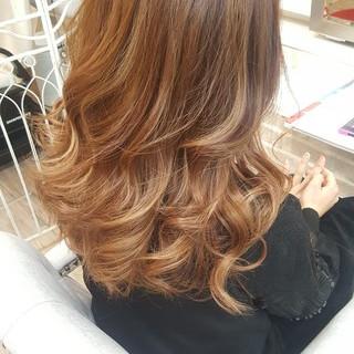 ハイライト 外国人風カラー ゆるふわ 外国人風 ヘアスタイルや髪型の写真・画像