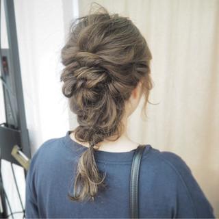 ヘアアレンジ 編み込み ショート 簡単ヘアアレンジ ヘアスタイルや髪型の写真・画像