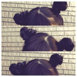 ショート ヘアアレンジ お団子 簡単ヘアアレンジ ヘアスタイルや髪型の写真・画像