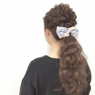 愛され ヘアアレンジ フェミニン ゆるふわ ヘアスタイルや髪型の写真・画像