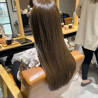 大人ロング ロングヘアスタイル ナチュラル イルミナカラー ヘアスタイルや髪型の写真・画像