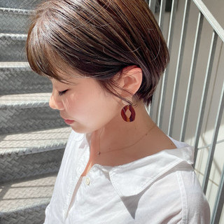 ミニボブ ショートボブ ショートヘア ショート ヘアスタイルや髪型の写真・画像