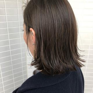ワンレングス ミニボブ モード 切りっぱなし ヘアスタイルや髪型の写真・画像