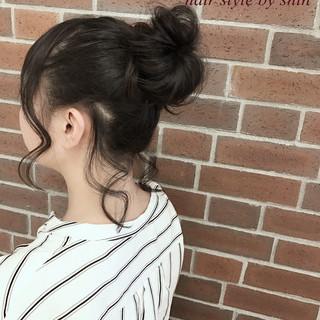 ニュアンス ヘアアレンジ デート ナチュラル ヘアスタイルや髪型の写真・画像