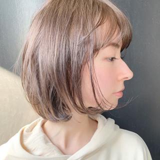 大人かわいい 春ヘア モード ボブ ヘアスタイルや髪型の写真・画像