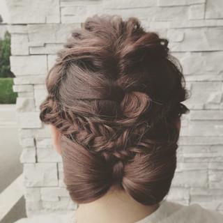 ピンク ガーリー ロング レッド ヘアスタイルや髪型の写真・画像 ヘアスタイルや髪型の写真・画像