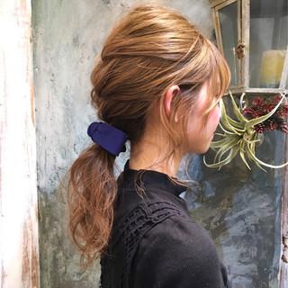 パーマ ショート ヘアアレンジ ハーフアップ ヘアスタイルや髪型の写真・画像