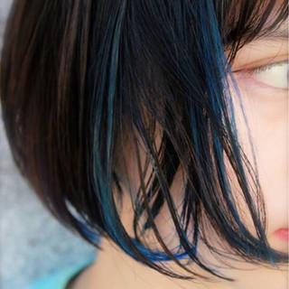 黒髪 ストリート ハイライト アッシュ ヘアスタイルや髪型の写真・画像