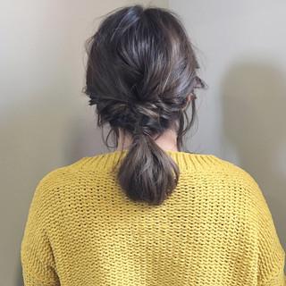 ミディアム バレンタイン 簡単ヘアアレンジ 成人式 ヘアスタイルや髪型の写真・画像