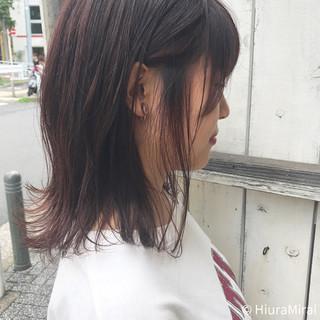 艶髪 ミディアム 色気 夏 ヘアスタイルや髪型の写真・画像