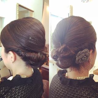 結婚式 ミディアム 二次会 ヘアアレンジ ヘアスタイルや髪型の写真・画像
