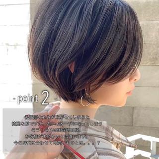 ショートボブ ショート パーマ アンニュイほつれヘア ヘアスタイルや髪型の写真・画像 | ショートボブの匠【 山内大成 】『i.hair』 / 『 i. 』 omotesando