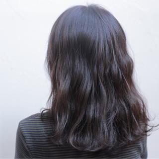 ミディアム ハイライト 外国人風 ナチュラル ヘアスタイルや髪型の写真・画像