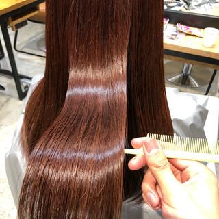 ロング ナチュラル アディクシーカラー 髪質改善トリートメント ヘアスタイルや髪型の写真・画像