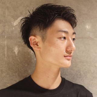 刈り上げ ツーブロック メンズ ショート ヘアスタイルや髪型の写真・画像 | 刈り上げ・2ブロック専門美容師 ヤマモトカズヒコ / MEN'S GROOMING SALON AOYAMA by kakimoto arms