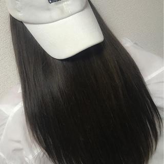 ナチュラル 黒髪 アッシュ ロング ヘアスタイルや髪型の写真・画像
