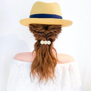 ヘアアレンジ アウトドア ロング 大人かわいい ヘアスタイルや髪型の写真・画像