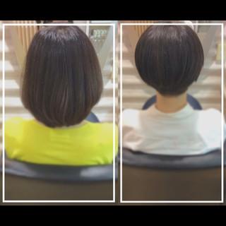 艶髪 髪質改善カラー 髪質改善トリートメント ナチュラル ヘアスタイルや髪型の写真・画像