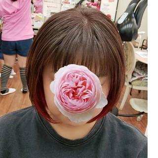 防府市 ショート 山口県 ハイトーン ヘアスタイルや髪型の写真・画像