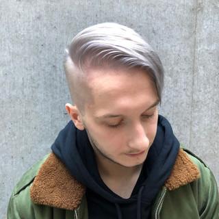 ツーブロック ブリーチ フェードカット ストリート ヘアスタイルや髪型の写真・画像