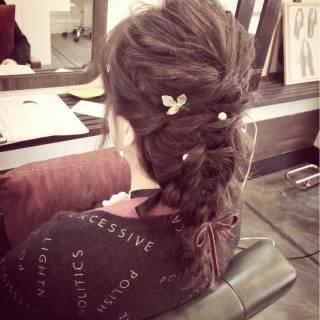 ゆるふわ 編み込み ルーズ ストリート ヘアスタイルや髪型の写真・画像 ヘアスタイルや髪型の写真・画像