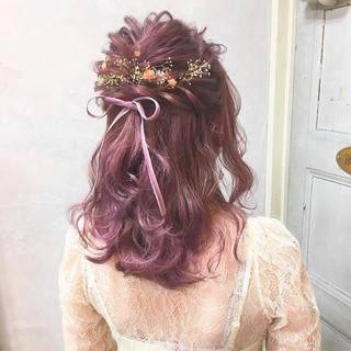セミロング ヘアアレンジ 成人式 結婚式 ヘアスタイルや髪型の写真・画像