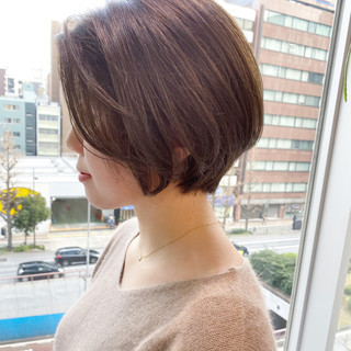 ゆるふわ ショートボブ ショートヘア ナチュラル ヘアスタイルや髪型の写真・画像