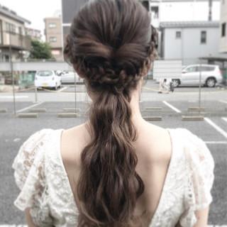 ブライダル ヘアアレンジ 上品 エレガント ヘアスタイルや髪型の写真・画像