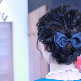 ミディアム 簡単ヘアアレンジ ショート 結婚式 ヘアスタイルや髪型の写真・画像 ヘアスタイルや髪型の写真・画像