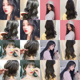 ナチュラル 簡単ヘアアレンジ 韓国ヘア 切りっぱなしボブ ヘアスタイルや髪型の写真・画像