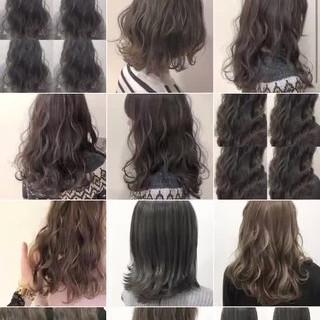 ハイライト ミディアム ナチュラル イルミナカラー ヘアスタイルや髪型の写真・画像
