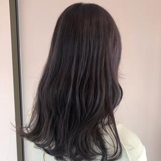 パープル バイオレットアッシュ ブリーチ ロング ヘアスタイルや髪型の写真・画像