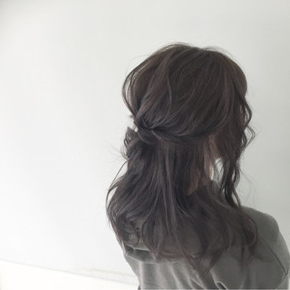 メッシーバン 大人女子 ヘアアレンジ ショート ヘアスタイルや髪型の写真・画像
