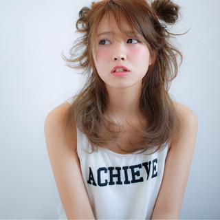 ピュア ミディアム フェミニン ヘアアレンジ ヘアスタイルや髪型の写真・画像