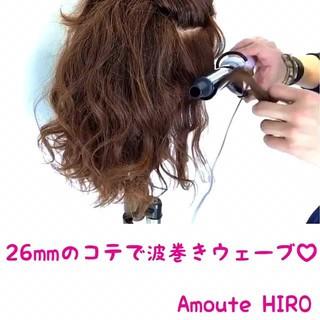 巻き髪 ヘアアレンジ ガーリー ミディアム ヘアスタイルや髪型の写真・画像