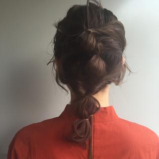 ショート ハイライト セミロング ラフ ヘアスタイルや髪型の写真・画像