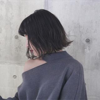 アンニュイほつれヘア 簡単ヘアアレンジ ボブ パーマ ヘアスタイルや髪型の写真・画像