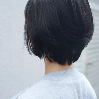 ショートボブ パーマ ショート 美シルエット ヘアスタイルや髪型の写真・画像