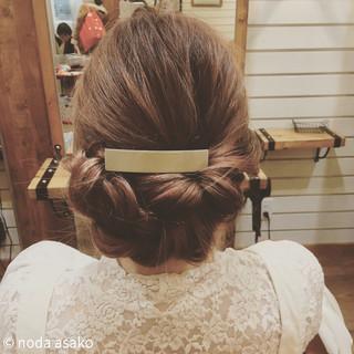 大人女子 編み込み 結婚式 ロング ヘアスタイルや髪型の写真・画像
