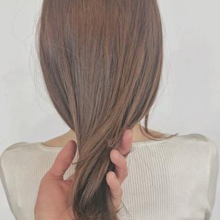 簡単ヘアアレンジ シナモンベージュ デート ナチュラル ヘアスタイルや髪型の写真・画像