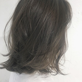 ミディアム スポーツ ロブ ゆるふわ ヘアスタイルや髪型の写真・画像