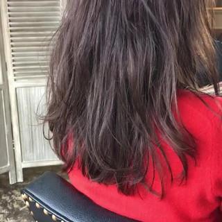 ヘアカラー フェミニン ヘアアレンジ グレージュ ヘアスタイルや髪型の写真・画像